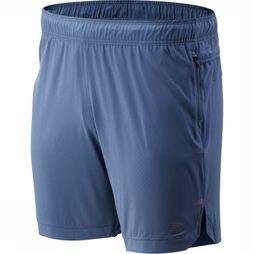 New Balance Short Q Speed Run Crew Bleu