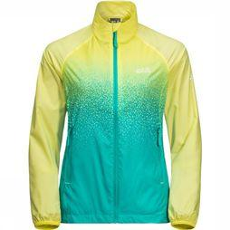 Jack Wolfskin Coupe-Vent Starry Night Jaune Clair/Turquoise