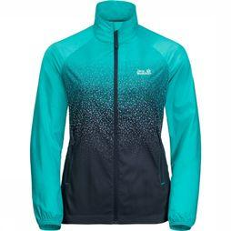 Jack Wolfskin Coupe-Vent Starry Night Turquoise/Noir