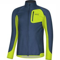 Gore Wear Windstopper R Partial Blauw/Lime