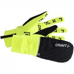 Craft Handschoen Hybrid Weather Geel/Zwart