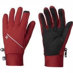 Columbia Glove Trail Summit Running dark red