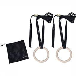 Tunturi Gymrings Wood 23 cm (incl. belt) Black/Ecru
