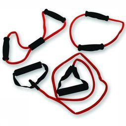 Tunturi Materiel Fitness Tubing Set With Grip - Heavy Rouge