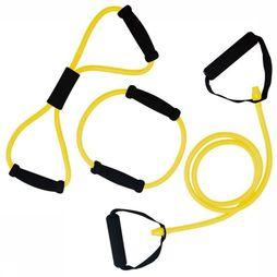 Tunturi Materiel Fitness Tubing Set With Grip - Light Jaune