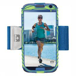 Nathan Armband Smartphone Sonic Boom Samsung GS4 mid green/mid blue