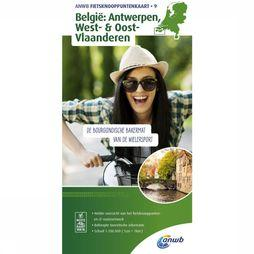 ANWB Antwerp, West- & East- Flanders Bicycle Junction Maps 2018