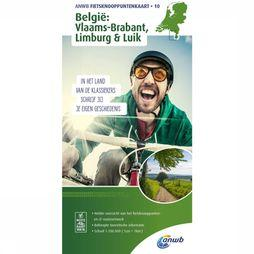 ANWB Flemish Brabant, Limburg & Liège Bicycle Junction Maps 2018