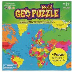 Ecotoys Geopuzzle World 68 Pieces 610 X 318 Mm 2016