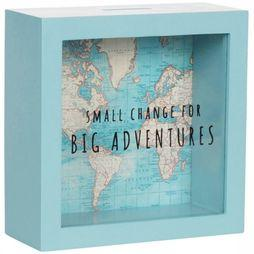 SASS & BELLE Spaarpot Big Adventures Vintage World Map 2018