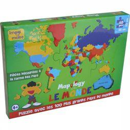 IMAGI MAKE Monde Les Plus Grands Pays (Fr) Foam Puzzle 2017