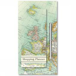 ROBERT FREDERICK Shopping Planner Magnetisch + Pen - Vintage Map 2017