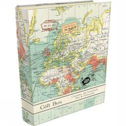 ROBERT FREDERICK Boekensteun Cadeau Set - Vintage Map 2017