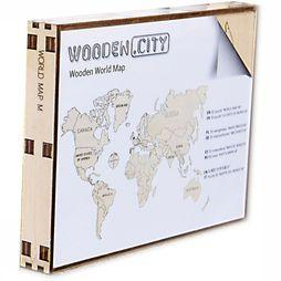 World Map Wood M