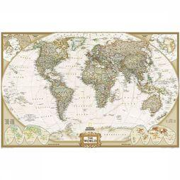 National Geographic World political antique enlarged wall map laminated 2018