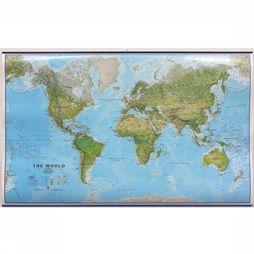 Maps International World environmental laminated with hanging strips 2018