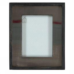 Yaya Home Photo Frame With Steel 30X25 Cm Noir