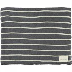 Yaya Home Jersey Knit Jacquard Plaid With Stripes 125X200 Donkergrijs