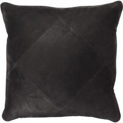 Yaya Home Cushion Buffalo Leather black