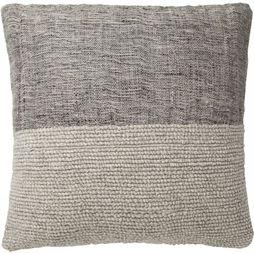 Yaya Home Kussen Linen Cushion With Wooden Buttons Zandbruin