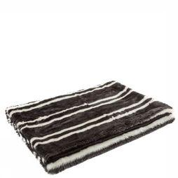 Yaya Home Plaid Fake Fur Striped Plaid Zwart