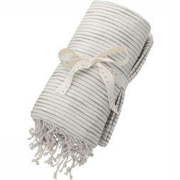 Handdoek Pure Cotton Hammam Towel With Fringes