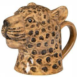 Yaya Home Servies Leopard Watering Can Donkerbruin