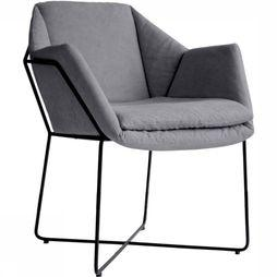 Yaya Home Accessoire Dining Chair With Metal Frame Middengrijs