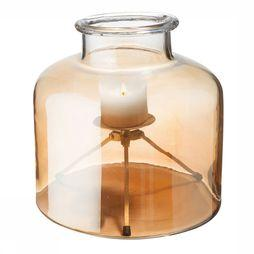 Yaya Home Glass Shielded Candle Holder Large Geen kleur