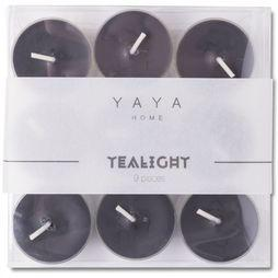 Yaya Home Kaarsen Pack of 9 T-Lights Zwart