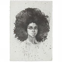 Yaya Home Poster A5 Lady Big Hair Don'T Care Wit/Zwart