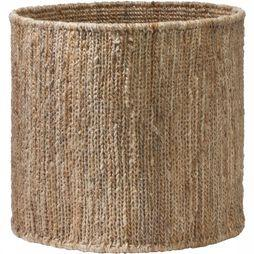 Yaya Home Round Handwoven Hemp Basket - Medium Middenbruin