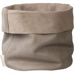 Yaya Home Opbergen Soft Tribe Leather Pouch Taupe