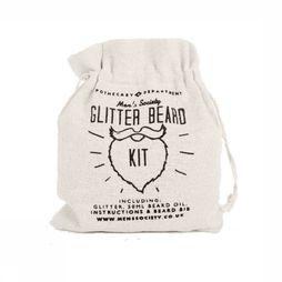 Men's Society Christmas Collection Glitter Beard Kit silver