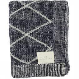 Yaya Home Plaid With Stitched Diamond Pa dark blue