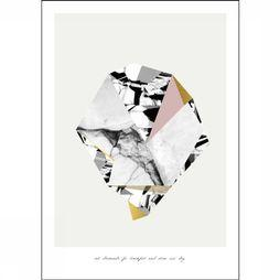 Yaya Home Wenskaarten A3 Poster 'Eat Diamonds For Breakfast And Shine All Day' Wit