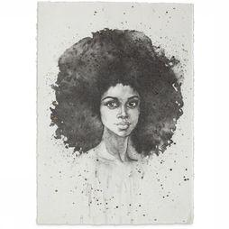 Yaya Home Wenskaart Poster A3 Lady Big Hair Don'T Care Wit/Zwart