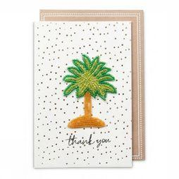 Yaya Home Wenskaart Beaded Patch Postcard Thank You Geen kleur