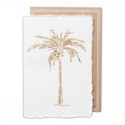 Yaya Home Wenskaart Cut-Out Postcard Palm Tree Gebroken Wit