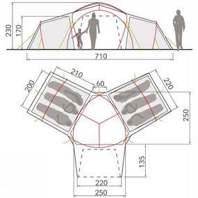 VAUDE Tent Badawi Long 6p - Bruin
