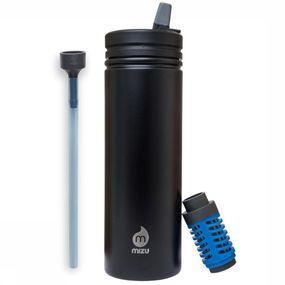 Mizu Drinkfles 360 M9 Kit - Zwart