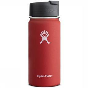 Hydro Flask Isolatiefles 16 Oz Wide Mouth Coffee Rood