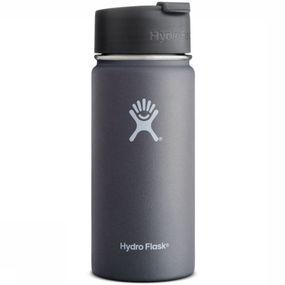 Hydro Flask Isolatiefles 16 Oz Wide Mouth Coffee Grijs