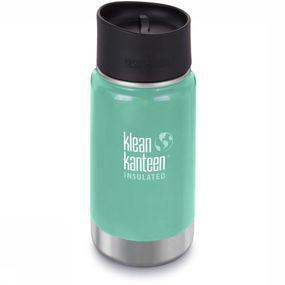 Klean Kanteen Isolatiefles Wide Vacuum Insulated 12oz 355ml Cafe Cap 2.0 - Groen
