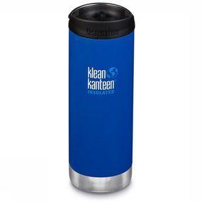 Klean Kanteen Isolatiefles Tk Wide Cafe Cap 474ml - Blauw