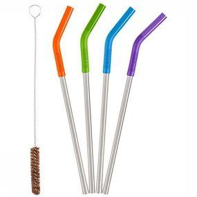 Diverse Steel Straws 4 Pack Multicolour