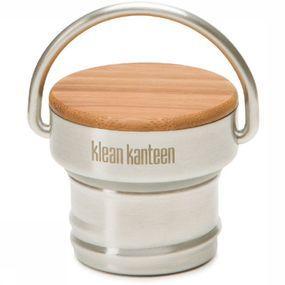 Klean Kanteen Stainless Unibody Bamboo Cap - Grijs
