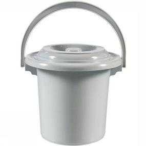 Curver Toilet Acc Toiletemmer Met Deksel 5 Liter - Grijs