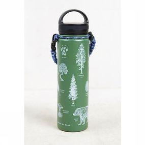 United by Blue Gadget Field Guide 22oz Stainless Steel Bottle - Groen