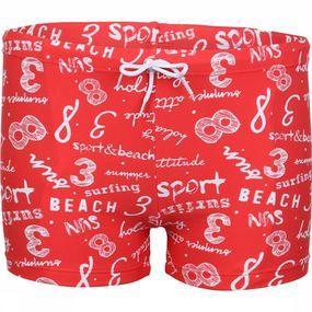 Knot so bad Slip Sport & Beach voor jongens - Rood